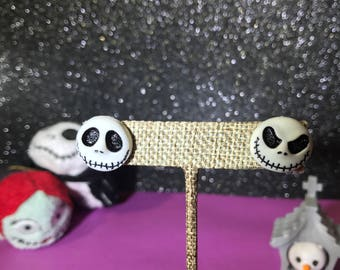 Skeleton Jack // Nightmare Before Christmas Stud Earrings // DisneyBound Jewelry // Gifts under 10 / FAST Shipping