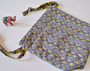Reversible Sock Potli - Double sided Soft Padded Potli (Drawstring) storage knitting crochet project gift bag pouch sack