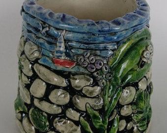 Handmade Ceramic Vase Vessel, Unique
