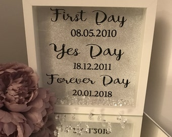 Wedding gift box picture frame