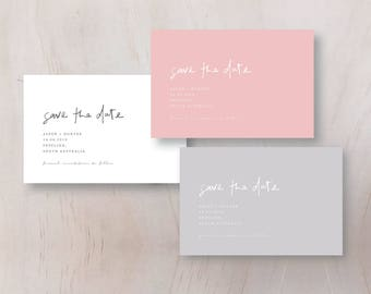 Save the Date Wedding Invitation - Personalised