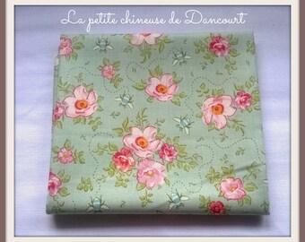 Teal fabric Tilda mollis Rosas coupon