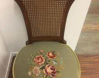 Vintage Needlepoint Chair