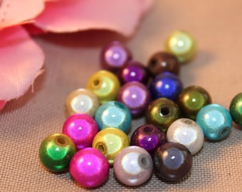 Lot 100 miracle beads / Magic 8 mm mixed color