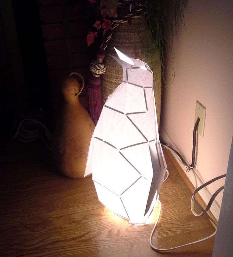 Make Your Own Penguin Lamp Pattern & Instructions for DIY