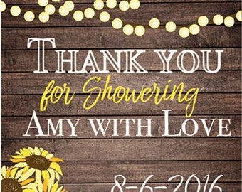Sunflower Favor tag- Customized with the guest of honor