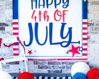 4th of July Backdrop Printable (INSTANT DOWNLOAD) by Love The Day
