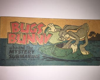 1949 Bugs Bunny Aboard the Mystery Submarine A-2 Cheerios Quaker Puffed Wheat Rice promo Promotional mini pocket size Comic Book