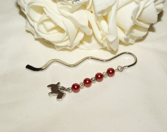 Dog Charm Bookmark - Red