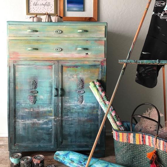 SOLD Monet Vintage Hand Painted Dresser