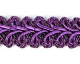 "E1901 Purple Gimp Sewing Upholstery Trim 1/2"" (E1901-PR)"