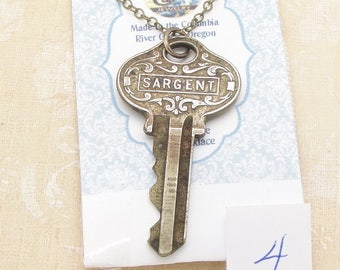 Long Vintage Key Necklace with Your Choice of a Sargent Housekey