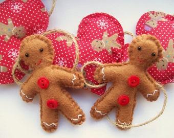 Christmas Garland, Gingerbread Man, Christmas Bunting, Festive Home Decor, Xmas Decorations