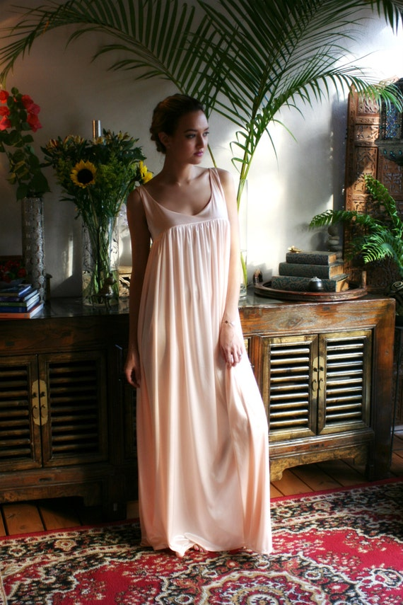 Pink Satin Nightgown Satin Sleepwear Satin Lingerie Pink