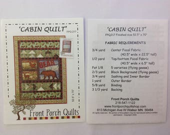 Front Porch Quilts- Cabin Quilt Pattern