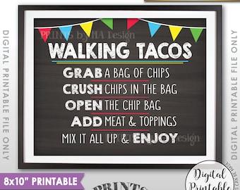 Taco Bar Sign Walking Tacos Sign Make Your Own Tacos