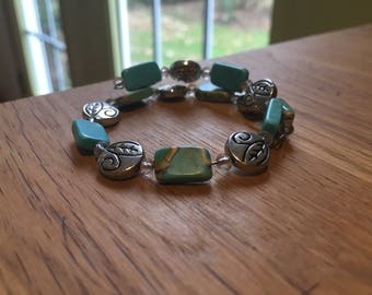 Turquoise Coiled Bracelet