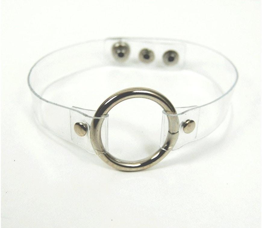 Clear choker PVC choker vinyl choker O-ring Choker