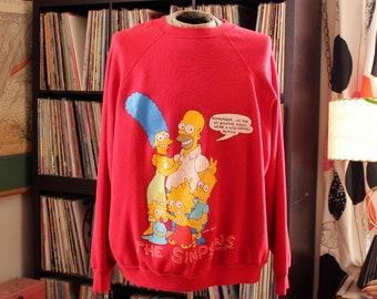 1990 vintage Simpsons sweatshirt, size 2x