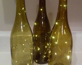 Wine Bottle Decor with Lights