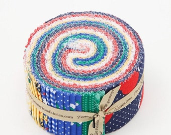 Sunnyside Ave. Jelly Roll Rolie Polie Pre-cut Quilt Fabric Strips Riley Blake Penny Rose