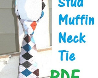 Boys tie Sewing Pattern Easy PDF Instant Download