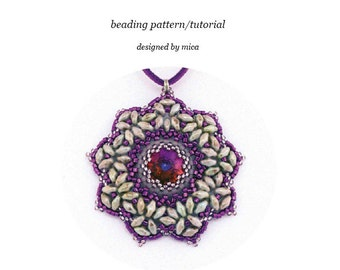 Alhena Pendant - Beading Pattern/Tutorial - PDF file for personal use only