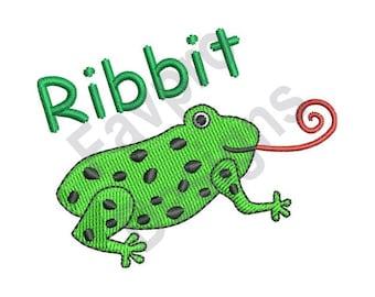 Ribbit Frog - Machine Embroidery Design