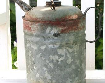 SALE: Vintage kerosene can; galvanized kerosene can; petroliana; gas station collectibles