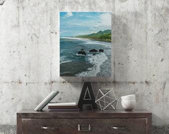 Coastal Beach, Coastal Wall Art, Pacific Coast, Coastal Print, Coastal Canvas Art, Photography Print, Extra Large Wall Art, Huge Canvas Art