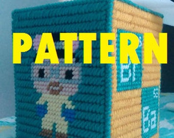 Breaking Bad Plastic Canvas Tissue Box cover PATTERN