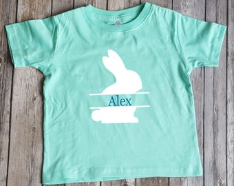 Personalized Bunny Easter Shirt, Easter Shirt,  Kids Easter Shirt, Girl shirt, Easter outfit, Easter Egg Hunt
