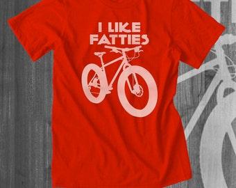 Like Fatty Mountain Bikes T shirt tops and tees t-shirts t shirts| Free Shipping