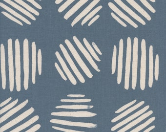 Panorama Cloud Coin Dots in Dolphin, Alexia Abegg, Cotton and Steel, RJR Fabrics, 100% Cotton Fabric, 5175-001