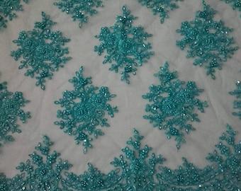 Lace Fabric/Luxury Beaded Lace Fabric