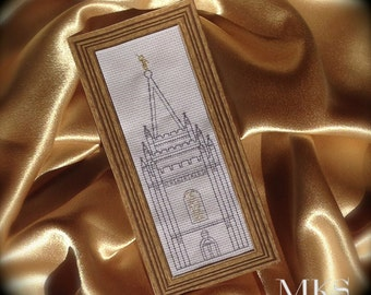 Salt Lake Temple Spire - Cross Stitch Pattern - Instant Download