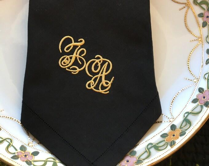 Wedding Handkerchiefs , Monogrammed Men's Handkerchief, Embroidered Hankerchief, Groom Handkerchief, Father of the Bride, Hankys