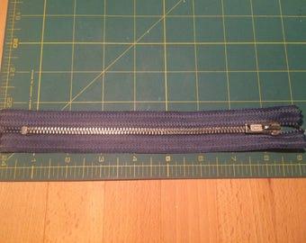 Denim Blue, Metal Zip, 8 inches