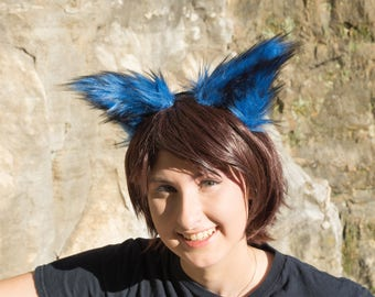 Black and Blue Furry Costume Animal Ears