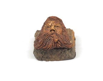 Hand Crafted Wood by Rick Albee Tree Spirit Cast Resin Box by Artist Rick Albee - Nature Pagan Decor Rustic Cabin Decor