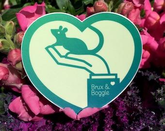 Heart Rat Brux & Boggle Sticker