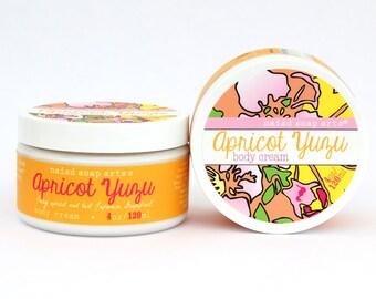 Abricot au yuzu du beurre de karité corps - riche en anti-oxydant - Vegan et Cruelty Free - 95 % naturel