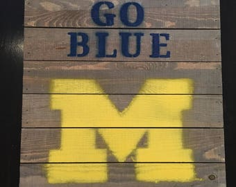Michigan Pallet Board Sign