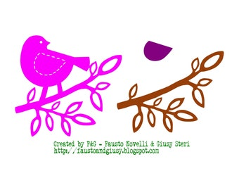 Bird on Branch - WPC digital cutting file for Pazzles Inspiration