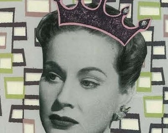Channeling Joan Crawford Greeting Card