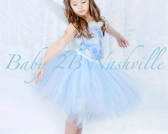 Winter Snow Fairy Costume  Icy Fairy Snow Princess Costume Complete Set