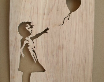 Banksy Girl With Balloon Stencil
