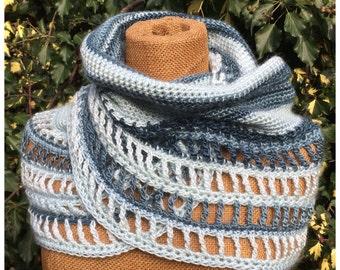 Pdf crochet pattern infinity scarf Maya, long cowl, capelet, neckwarmer