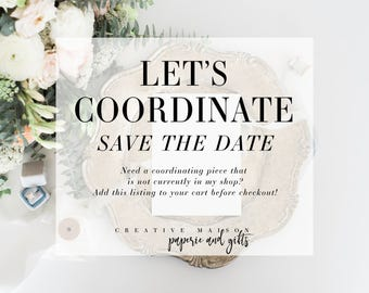 Coordinating Save the Date - Wedding Save the Date, Custom, CreativeMaison