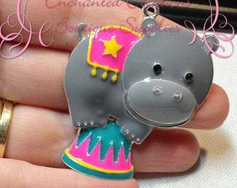 """2"""" Adorable Enamel Circus Balancing Hippo"""